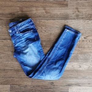 American Eagle Faded Whiskered Stretch Jeans 2